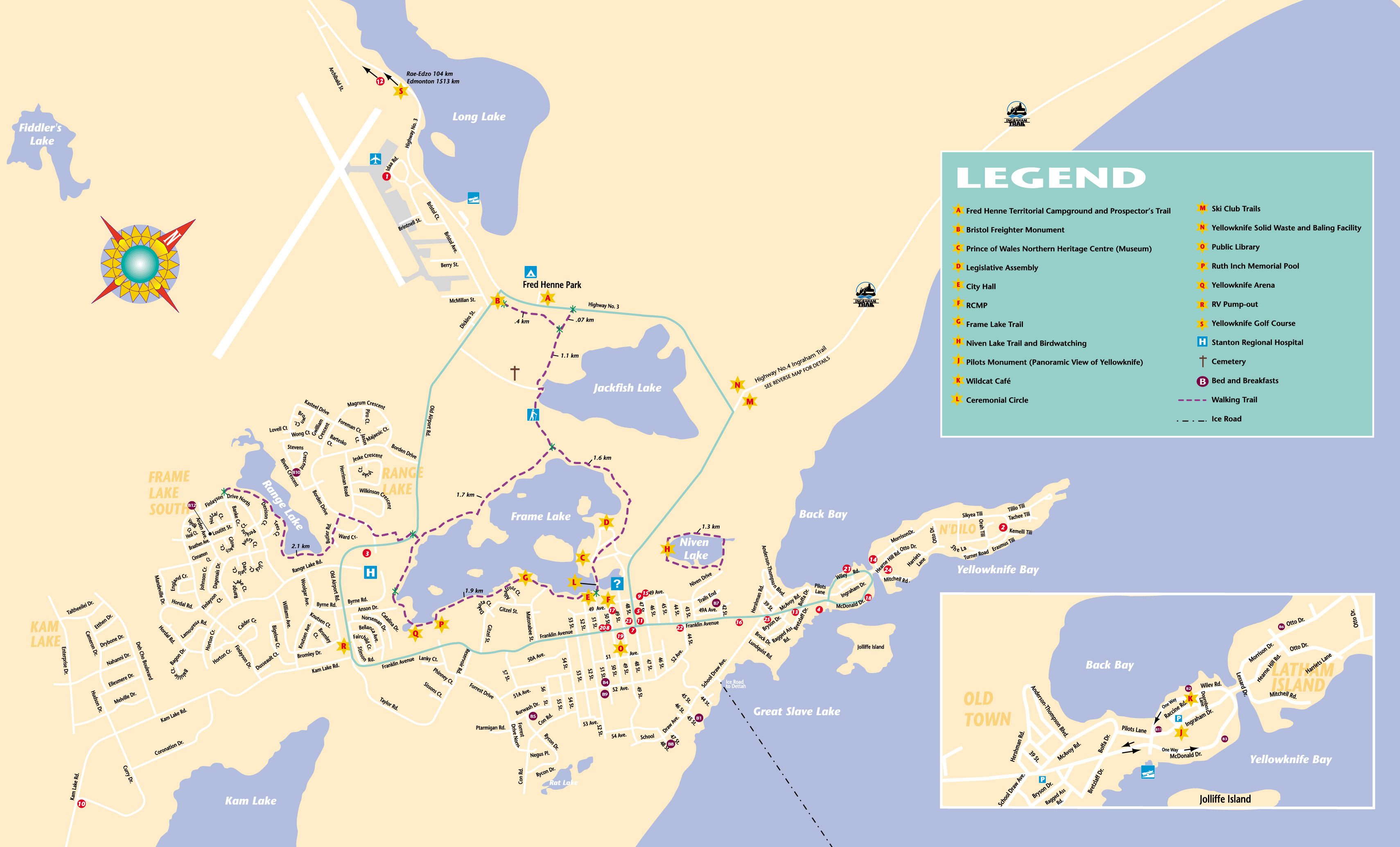 Map Of Canada Yellowknife.Links To Canada S North West